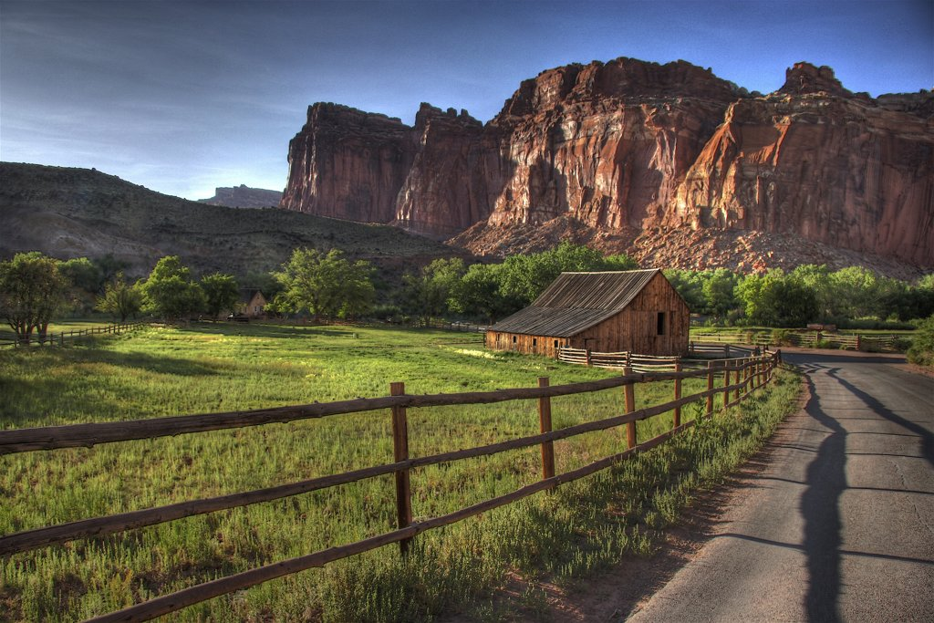 Sunset at the farm at Capitol Reef